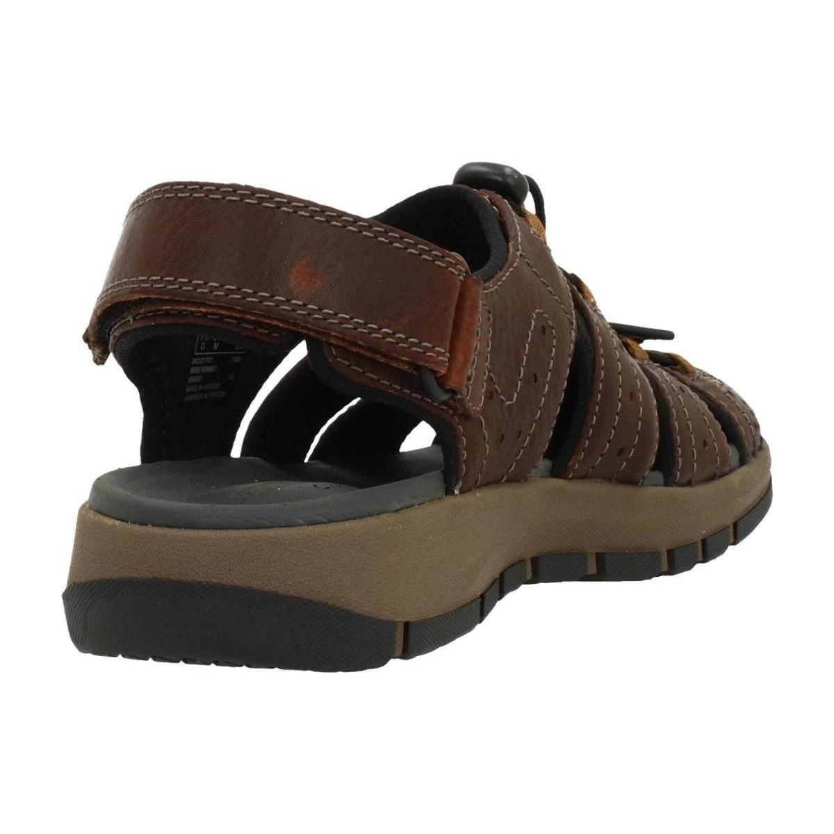 9cba6663 Clarks Brixby Cove (dark Brown Leather) Sandals for Men - Lyst