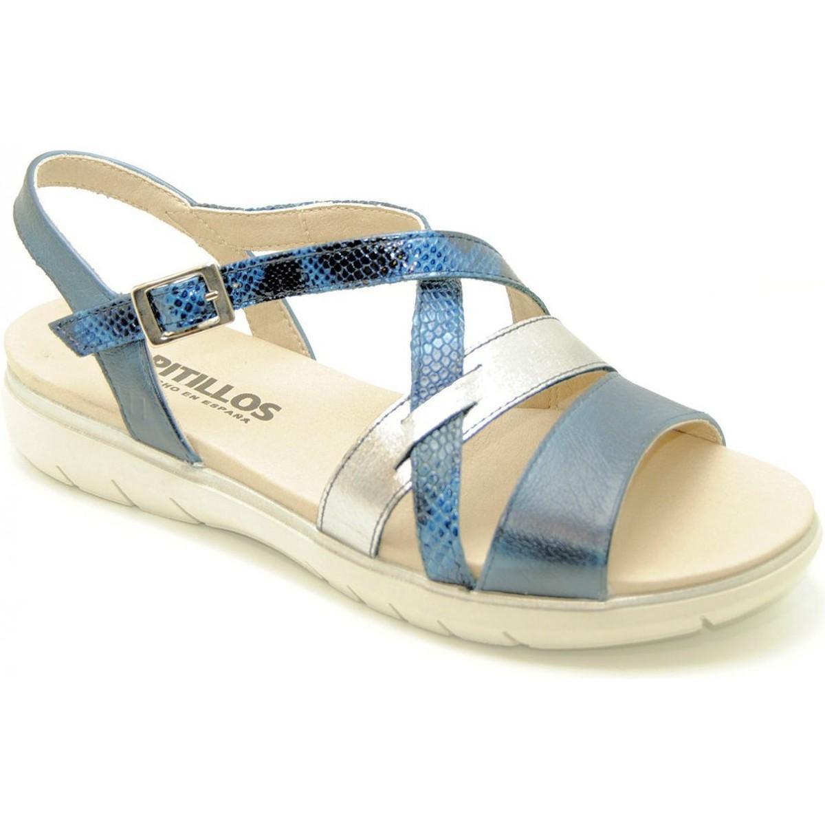 41589b2fb8e4 Pitillos 2334 Women s Sandals In Blue in Blue - Lyst