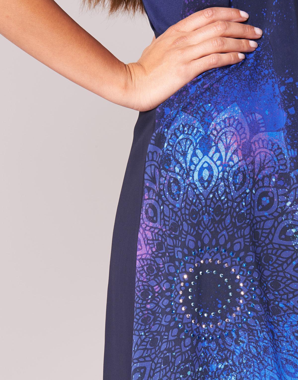 Robe Desigual Lyst Femmes Coloris En Bleu Agnes H00gwq8