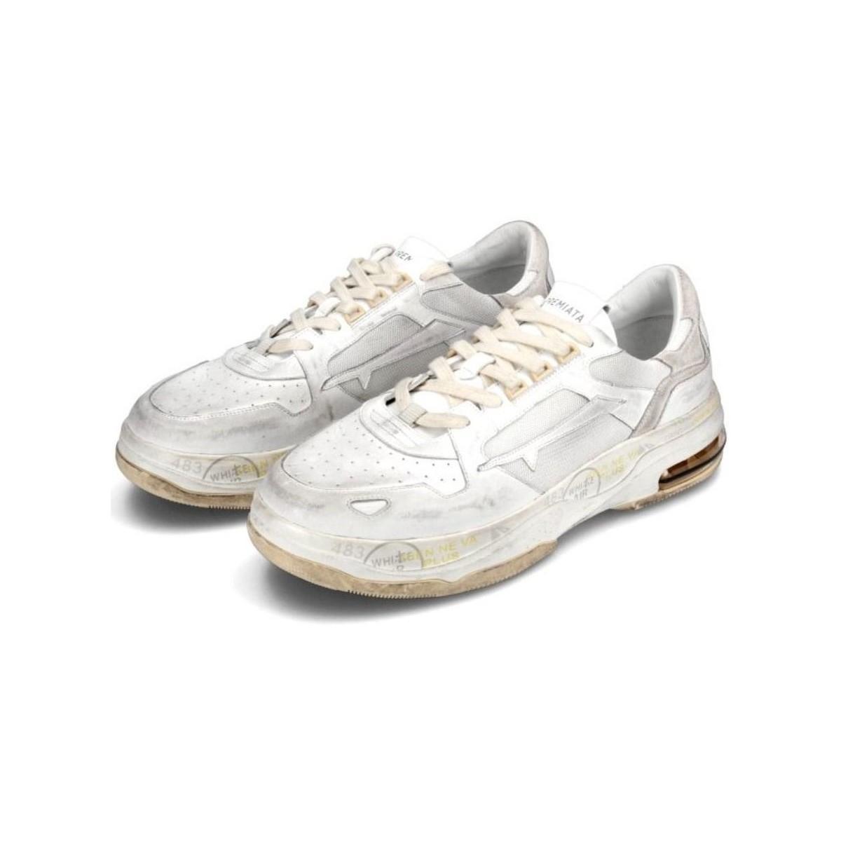 BASKETS FEMME Chaussures Premiata en coloris Blanc Snxp