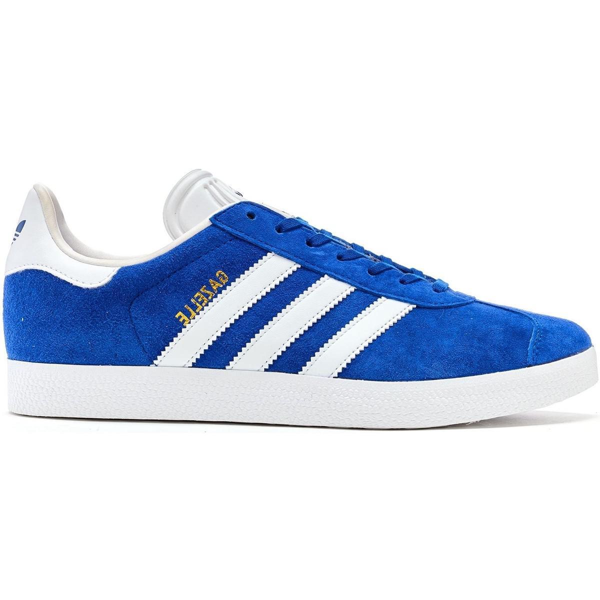 df52b4e13dd8e1 Adidas Originals Gazelle Suede Trainers In Collegiate Royal Blue Whi ...