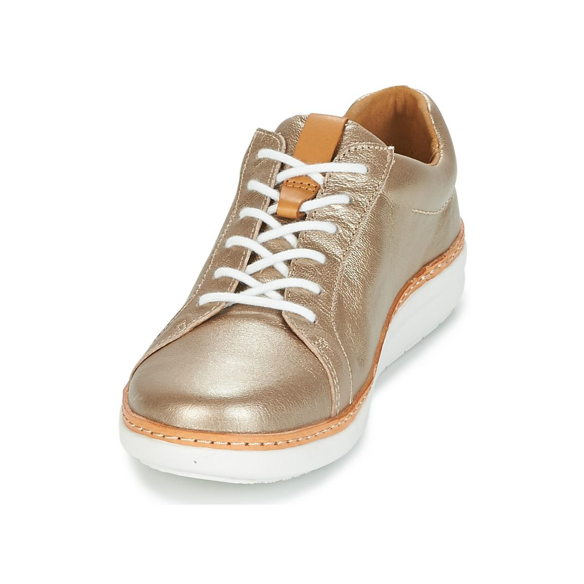 7326dcf2e93 Clarks  s Amberlee Rosa Low-top Sneakers in Metallic - Save 69% - Lyst