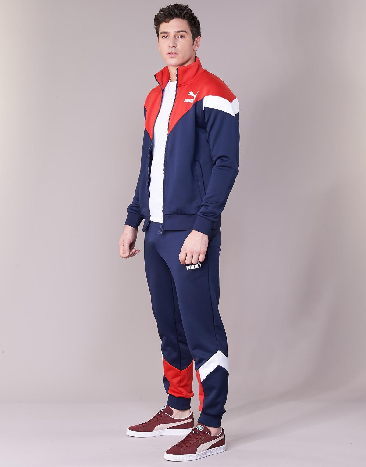 red white and blue puma tracksuit