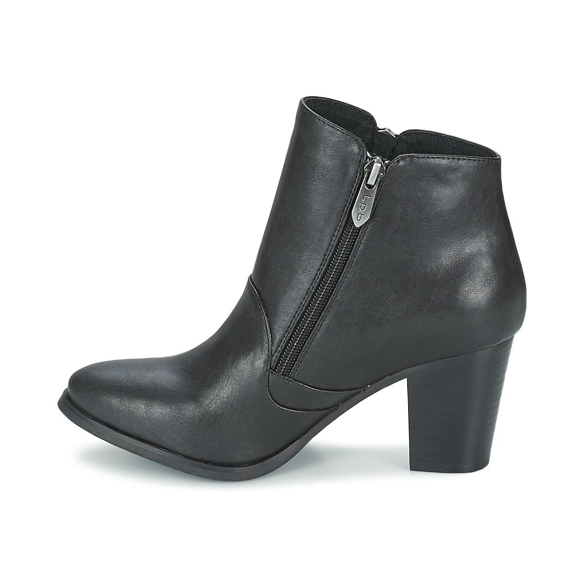 Les P'tites Bombes Synthetic Pony Women's Low Ankle Boots In Black
