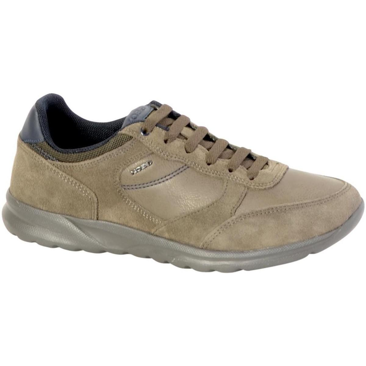 Geox Sneakerss U Damian A U740ha 022me C6029 Taupe Women's Shoes (trainers) In Brown