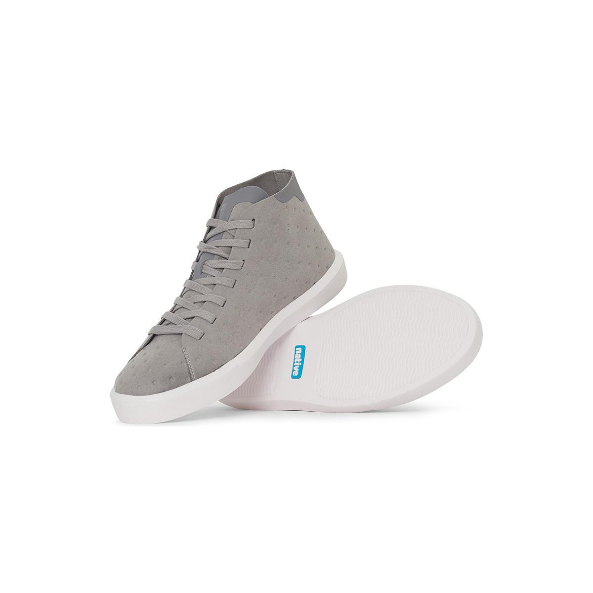 Native Shoes Monaco Mid Non Perf Trainer Grey Men's Shoes (high-top Trainers) In Grey in Grey for Men