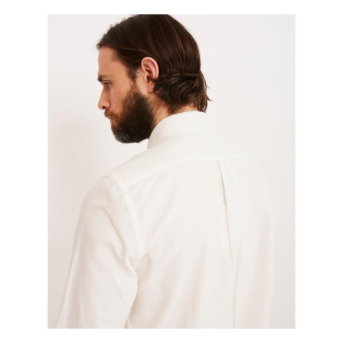 cf310302ed31 Portuguese Flannel Belavista Long Sleeve Shirt Off White Men s Long ...