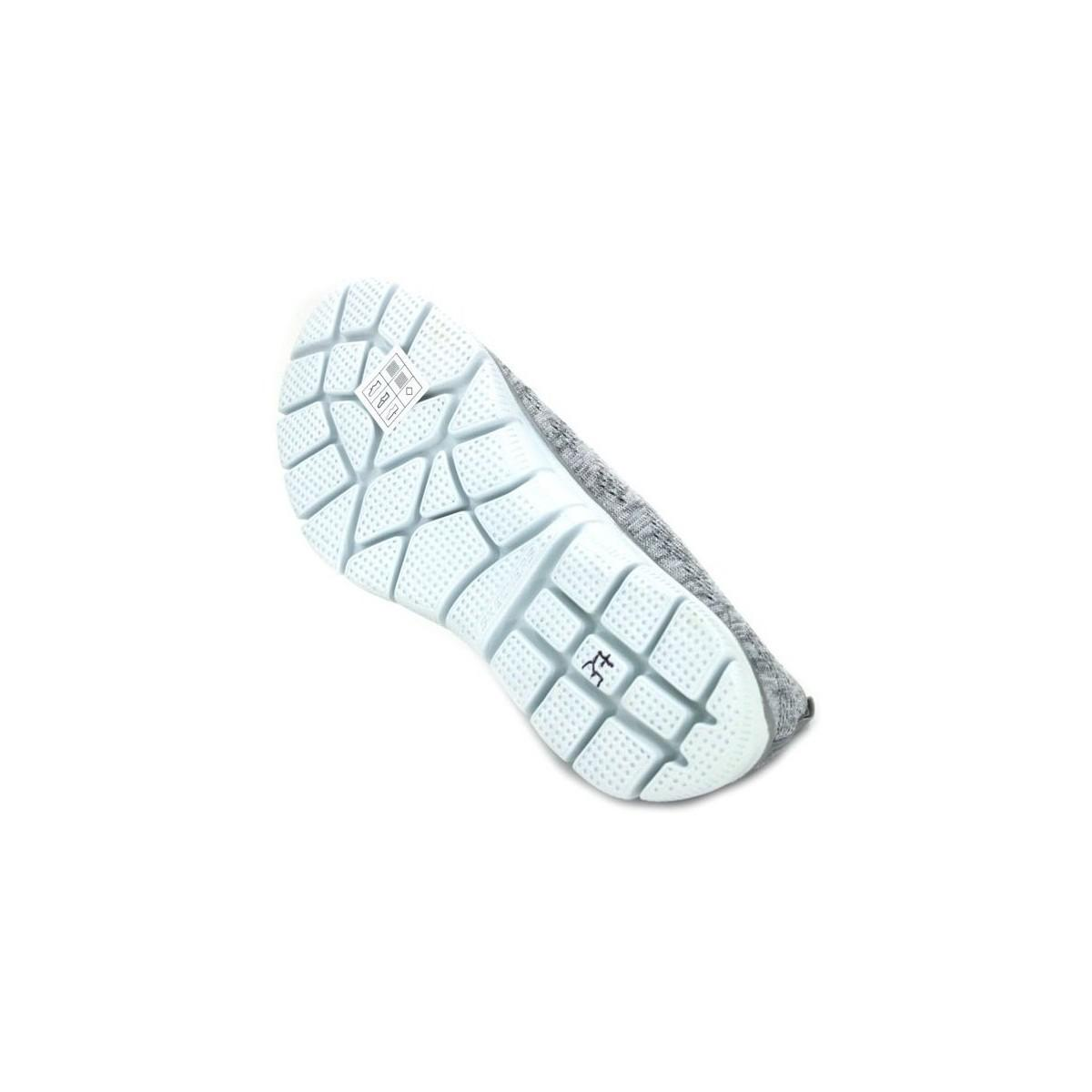 Skechers Empire Round Up 12420 Women's Shoes (trainers) In Silver in Metallic