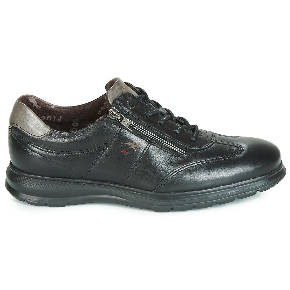 Fluchos Lage Sneakers Zeta in het Zwart voor heren