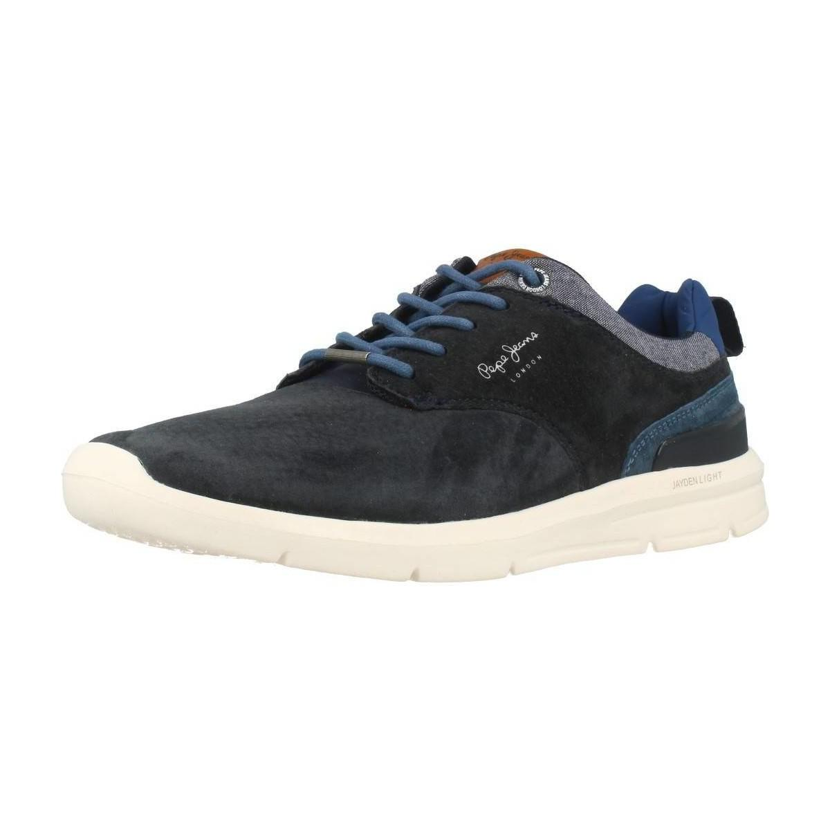 b82f5f38d98 Lyst - Pepe Jeans Pms30409 Men s Shoes (trainers) In Blue in Blue ...