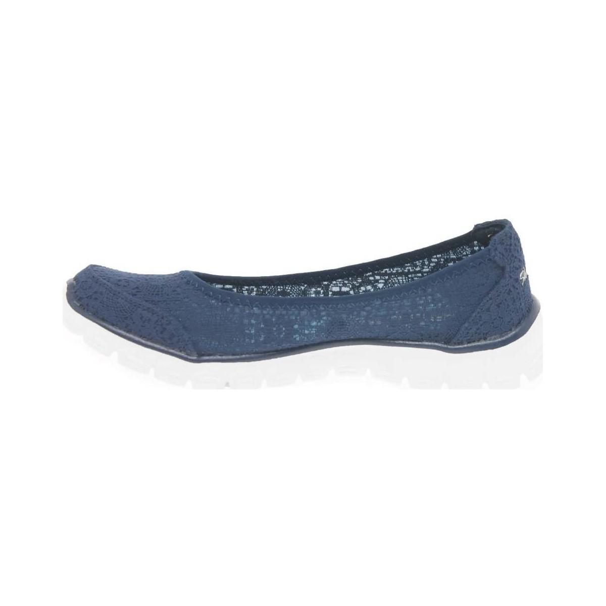 Skechers Ez Flex 3.0 Beautify Womens Slip On Sports Shoes Women's Shoes (trainers) In Blue