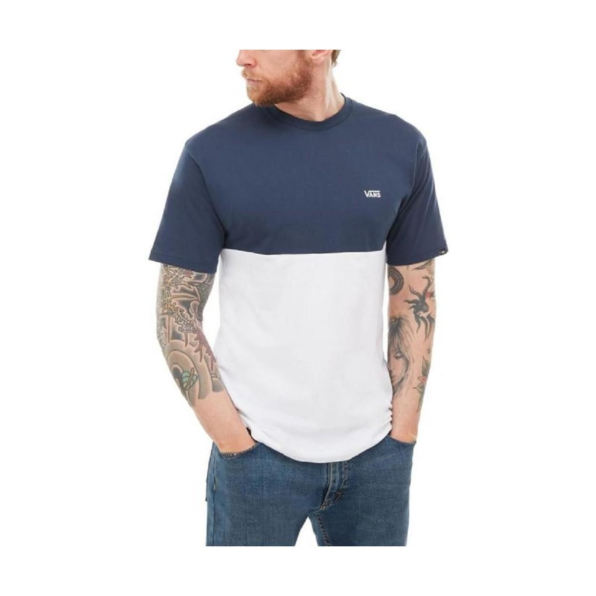 e325562899d2b Vans Camiseta Colorblock Tee Czd5s2 Men's Polo Shirt In White in ...