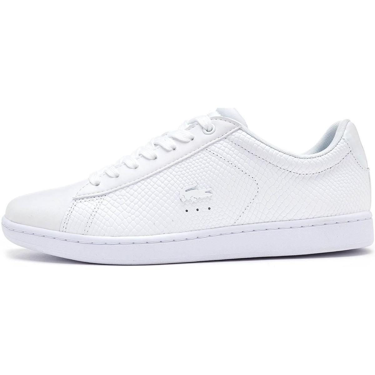 318d980503fb Lacoste Carnaby Evo 317 3 Spw Leather Trainers In Triple White ...