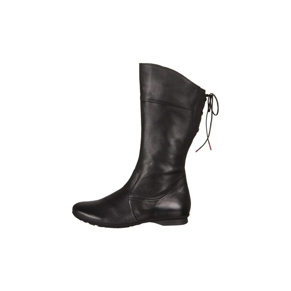 Think! Keshuel Soft Calf Veg Women's High Boots In Multicolour in Black
