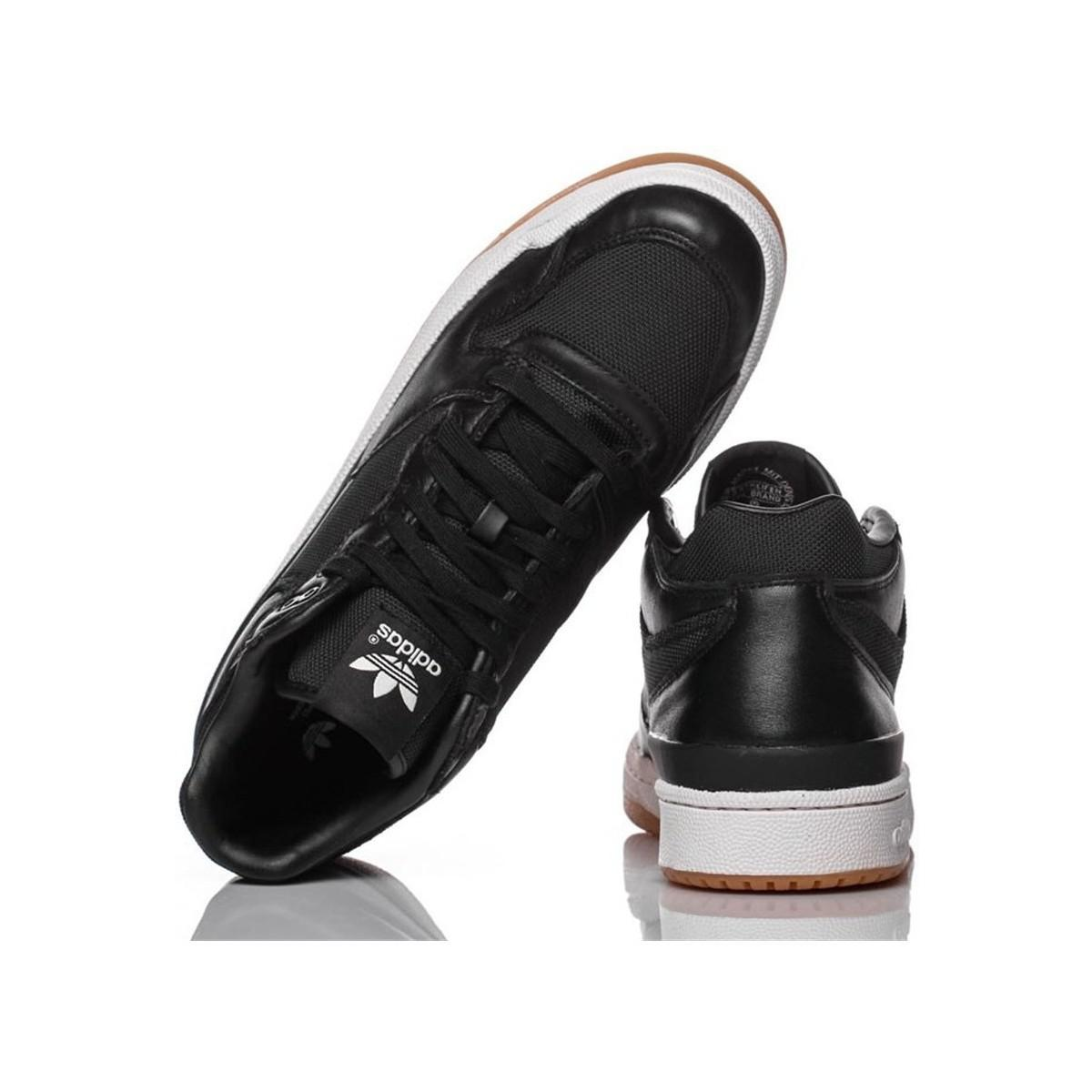 adidas Originals Forum Mid Clean Men's Shoes (high-top Trainers) In Black for Men