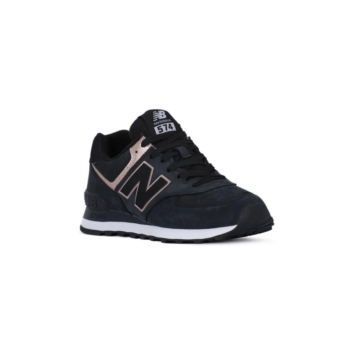 online store 92c4e 67757 New Balance Wl574nbk Women's Shoes (trainers) In Black in ...