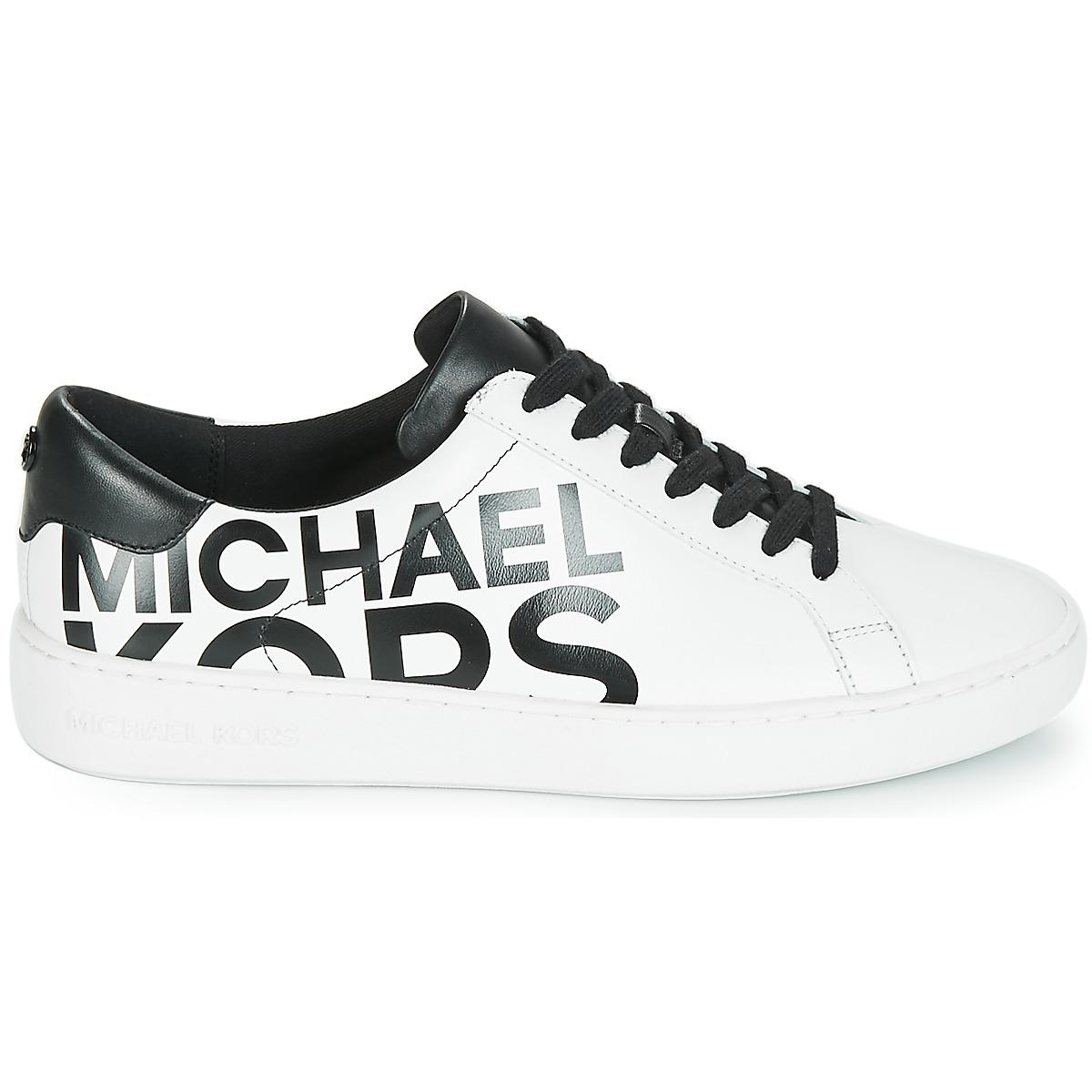 MICHAEL Michael Kors Leather Irving Lace Up Trainers in White