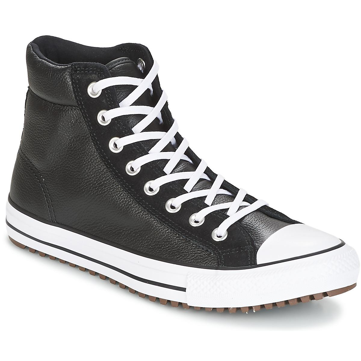Converse Chuck Taylor All Star Boot Pc Leather And Suede Hi Black ... afe1b2592