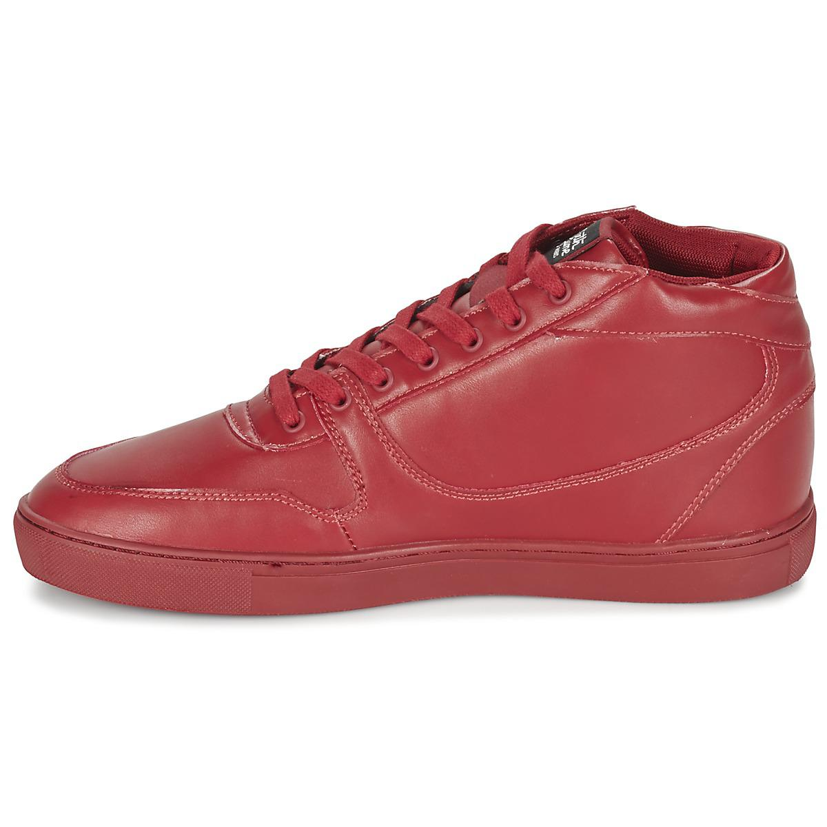 Sixth June Synthetic Nation Essential Men's Shoes (high-top Trainers) In Red for Men