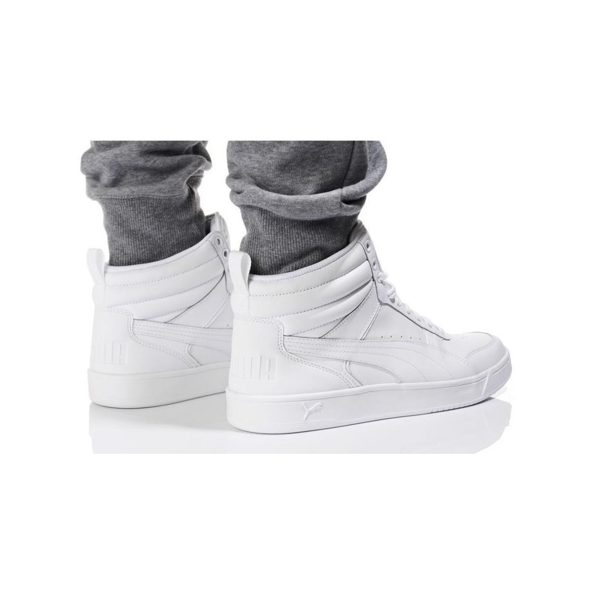 outlet winkel schattig snelle levering Rebound Street V2 L Men's Shoes (high-top Trainers) In White