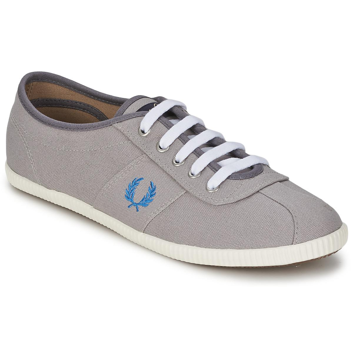 Fred Perry. Gray Hayes Canvas Women's Shoes (trainers) In Grey