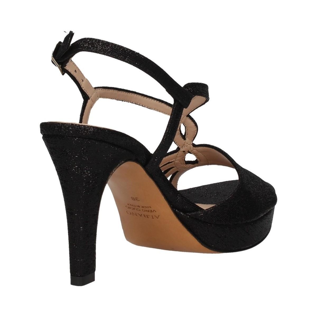 2026 Sandales Albano en coloris Noir