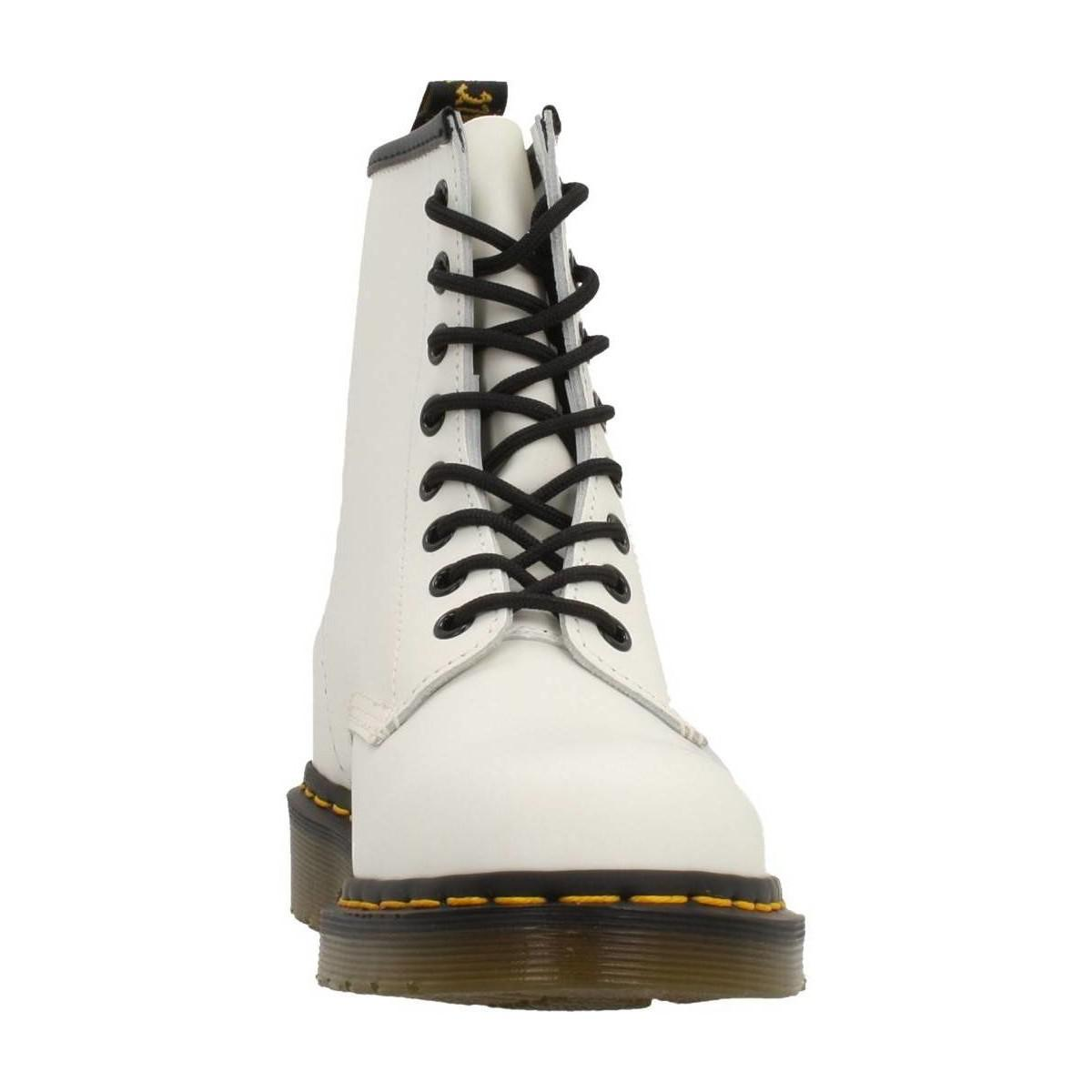Dr. Martens Leather Boots For Women in White