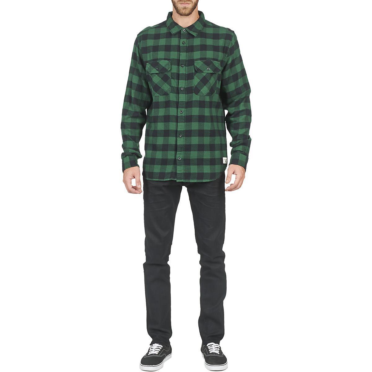 Billabong All Day Flannel Men's Long Sleeved Shirt In Green for Men