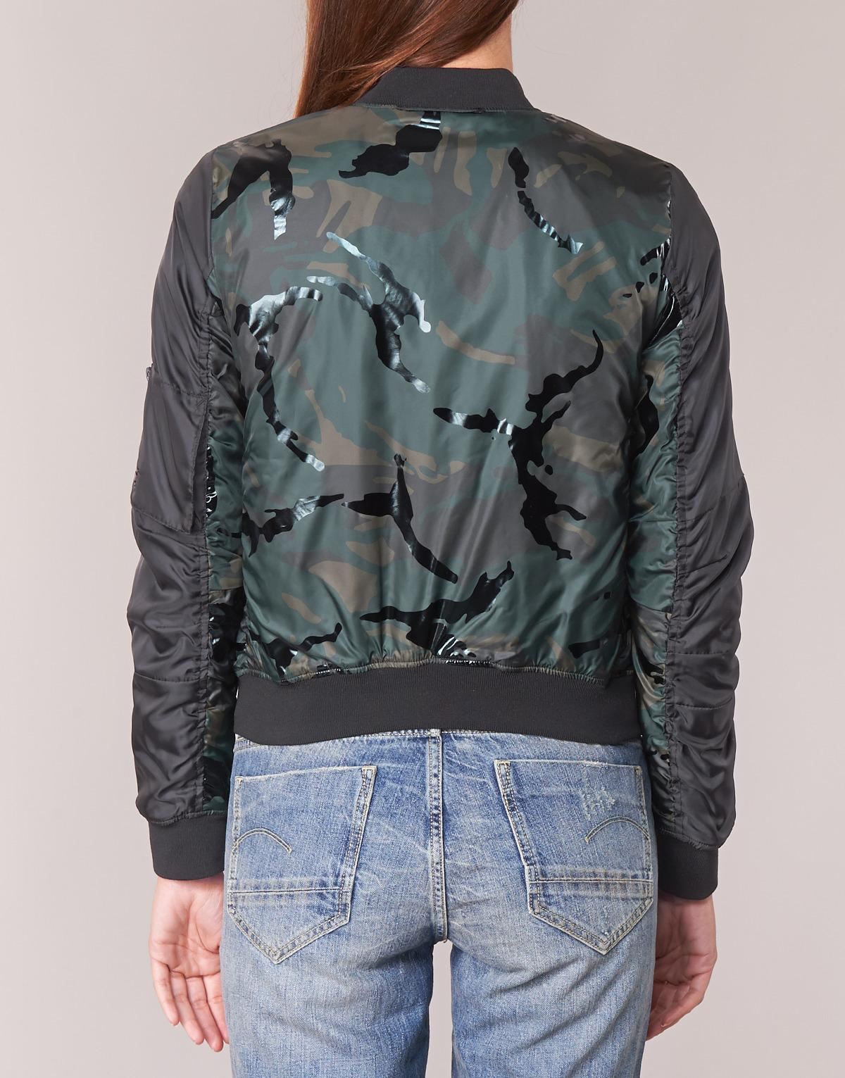 G-Star RAW Rackam Hc Bdc Cropped Bomber Jacket in Green - Lyst