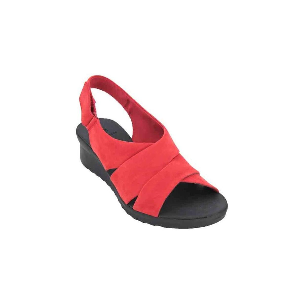 c8ff6fdf31d5 Clarks Caddell Petal Women s Sandals Women s Sandals In Red in Red ...