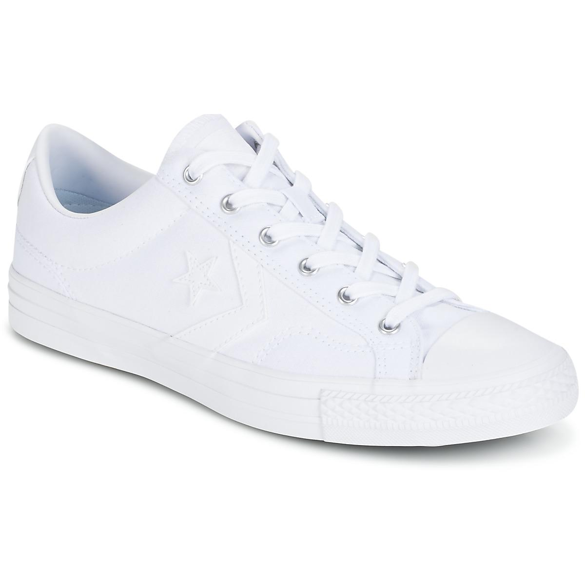 65b1daceab9be7 Converse. Star Player Canvas With Gum Ox White white white Men s ...