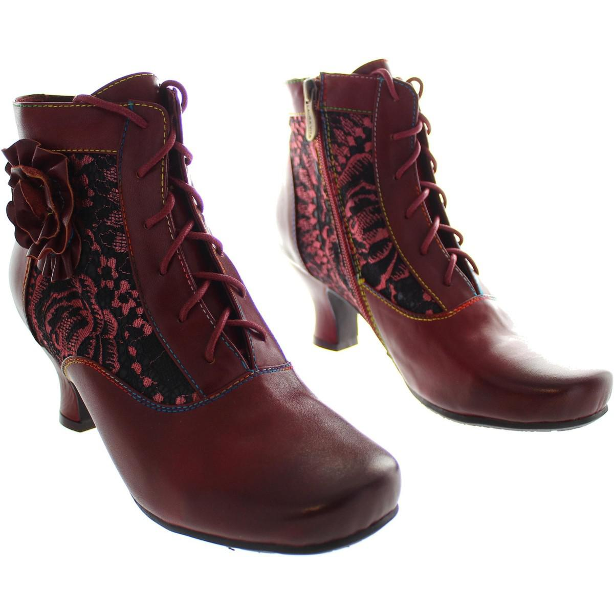 Laura Vita Candice 03 Women's Low Ankle Boots In Red