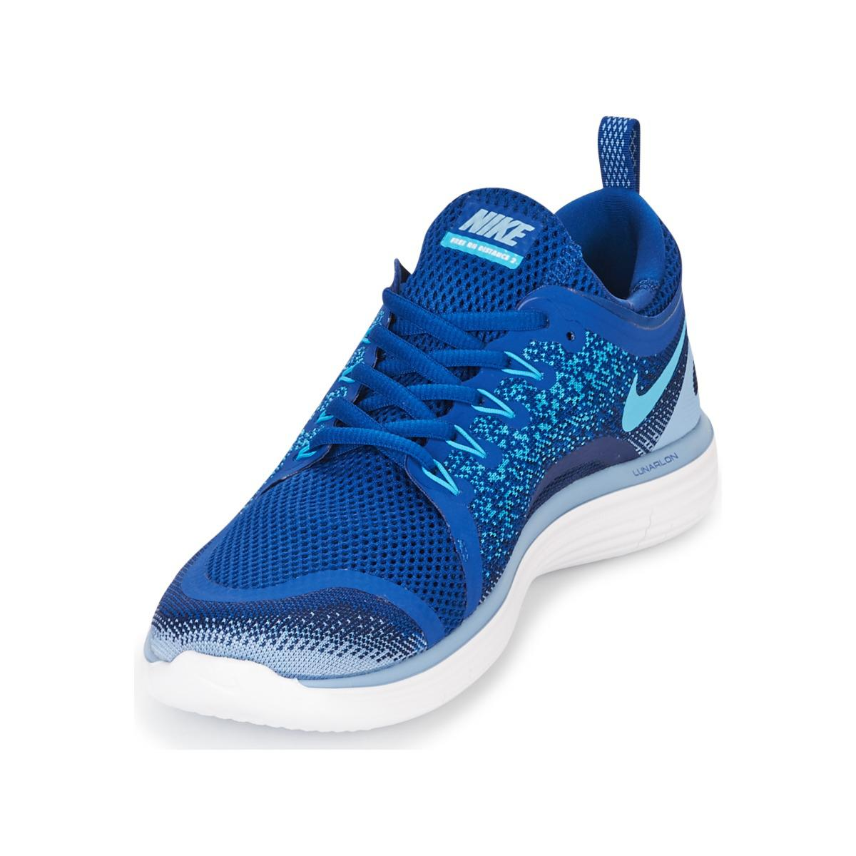 2dc5c4d1917d reduced nike free run distance 2 mens running trainers in blue for men lyst.  view