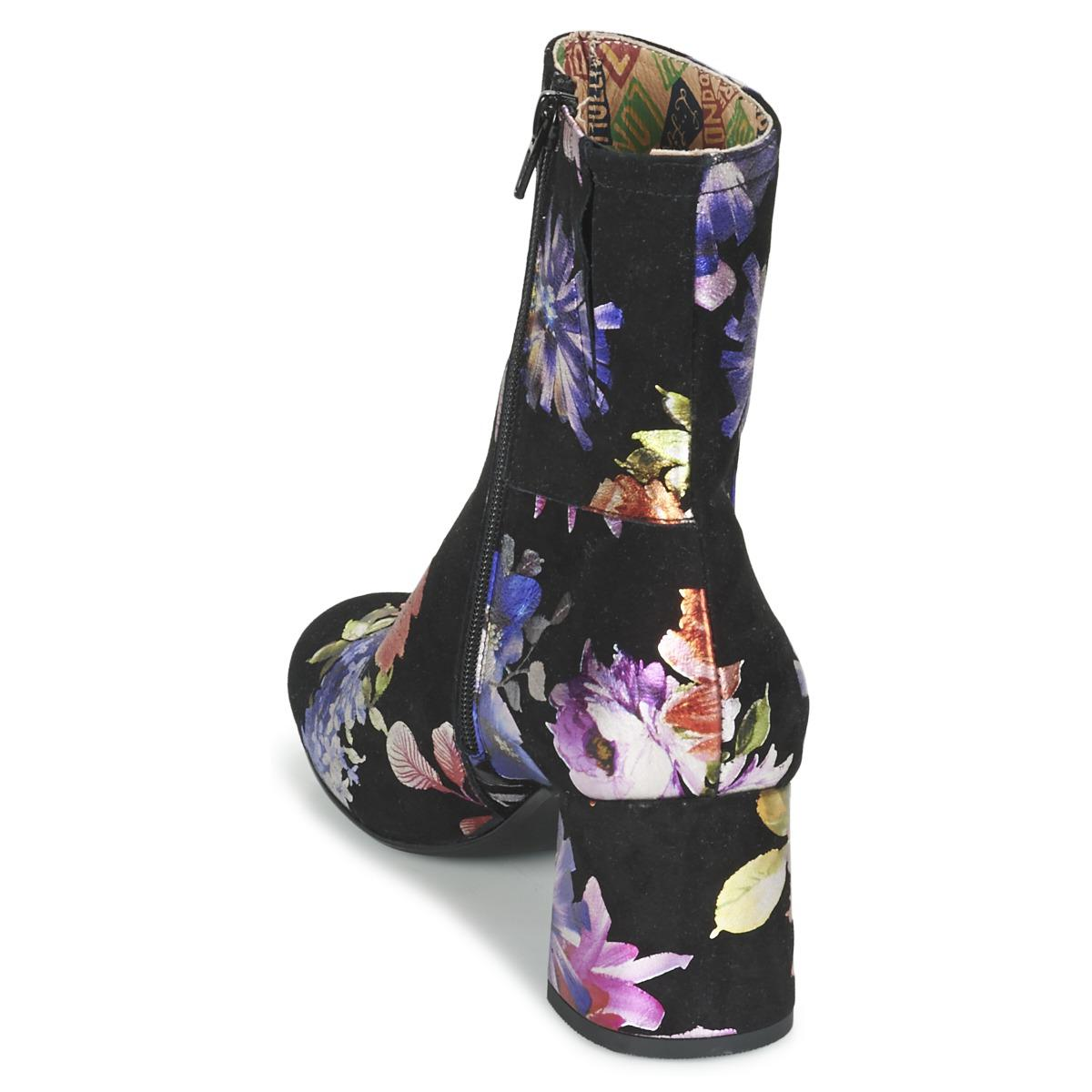 Miss L Fire Leather Jean Women's Low Ankle Boots In Multicolour in Blue