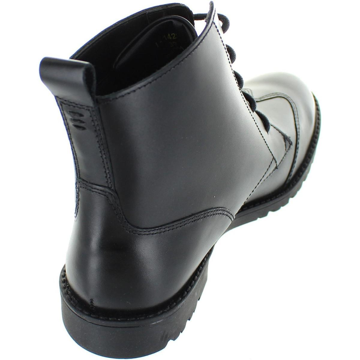 a3c19bb0 Kickers Lachly Hi Lthr Af Women's Low Ankle Boots In Black in Black ...