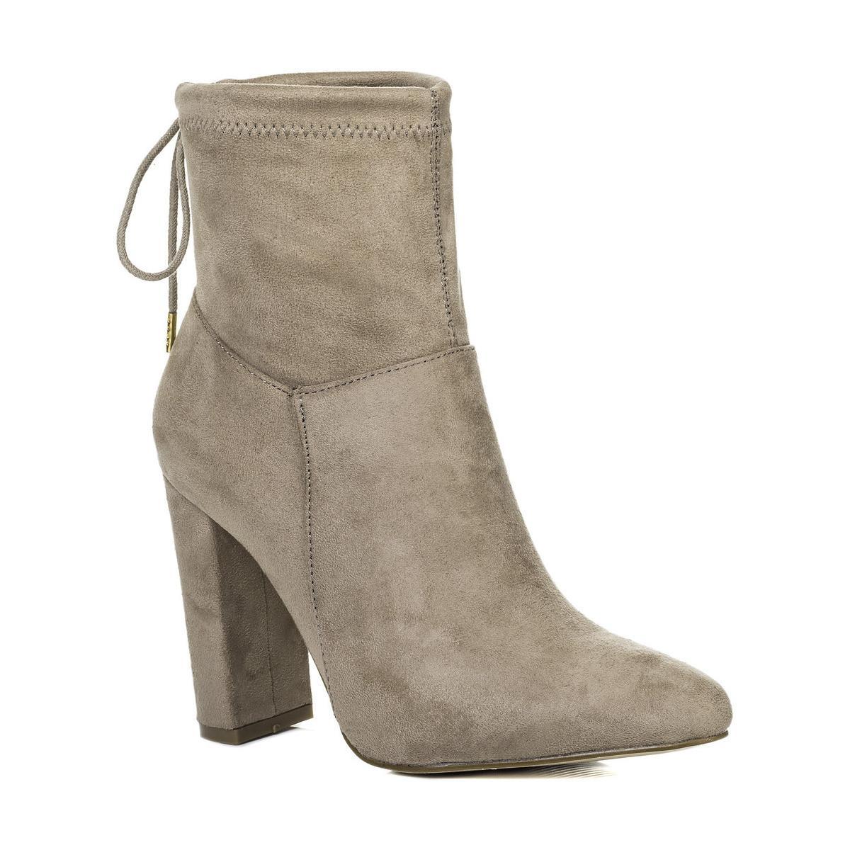 SPYLOVEBUY Suede Fern Women's Low Ankle Boots In Brown
