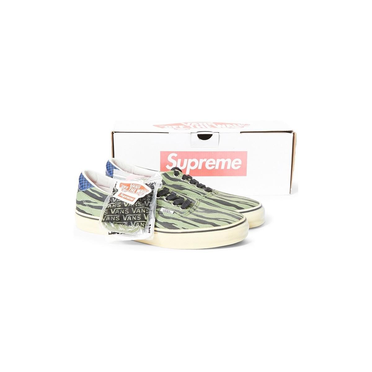 Supreme X Vans Era Zebra Olive Men's Shoes (trainers) In Green for Men