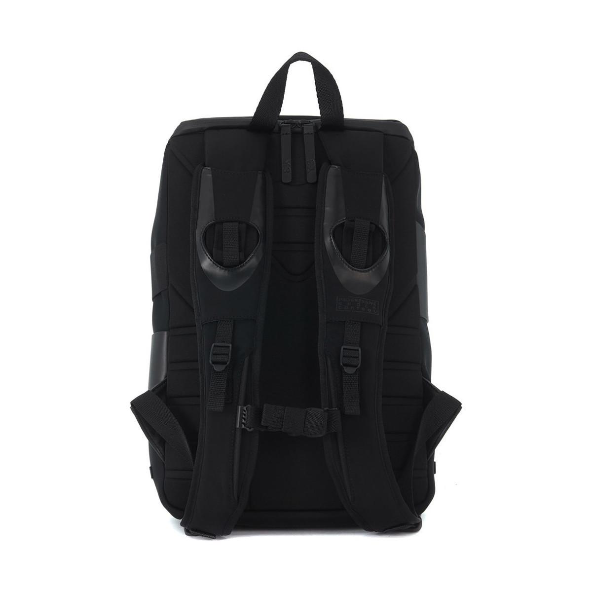 Y-3 Zaino Modello Qrush Small In Tessuto Tecnico E Pelle Men's Backpack In Black for Men
