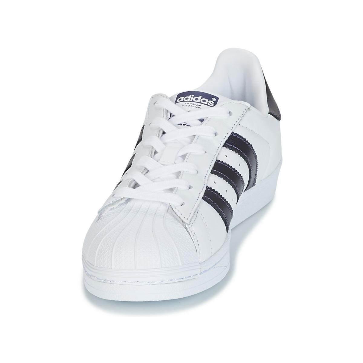 Superstar W adidas de Cuero de color Blanco: ahorra un 36 %