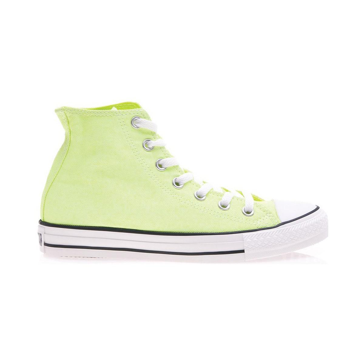 Converse - Multicolor Neon Yellow Women s Shoes (high-top Trainers) In  Multicolour -. View fullscreen a67190c27
