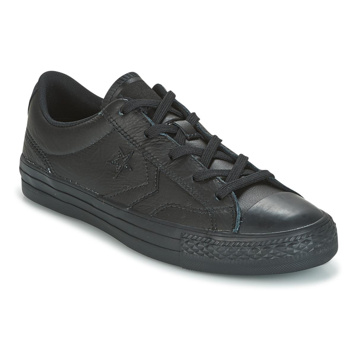 86008549b5c Converse Star Player Ox Leather Essentials Shoes (trainers) in Black ...