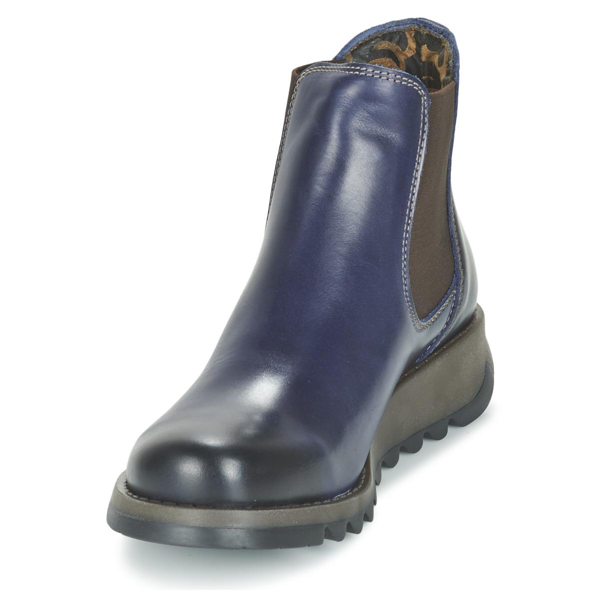 Fly London Salv Low Ankle Boots in Blue - Save 16%