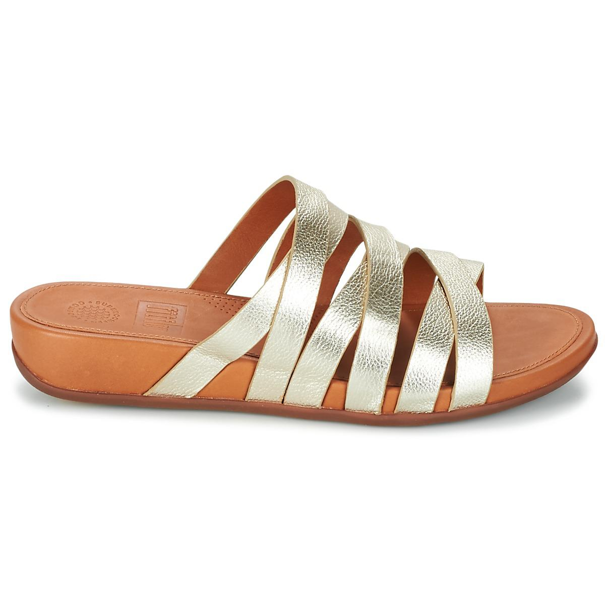 036a09d17 Fitflop Lumy Leather Slide Women s Mules   Casual Shoes In Gold in ...
