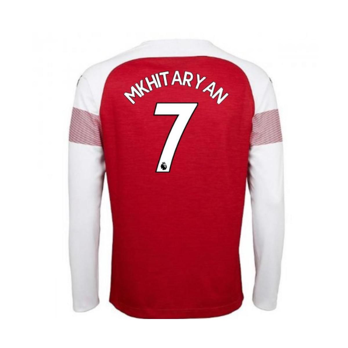 Puma 2018-2019 Arsenal Home Long Sleeve Shirt (mkhitaryan 7) Men s ... 195001697