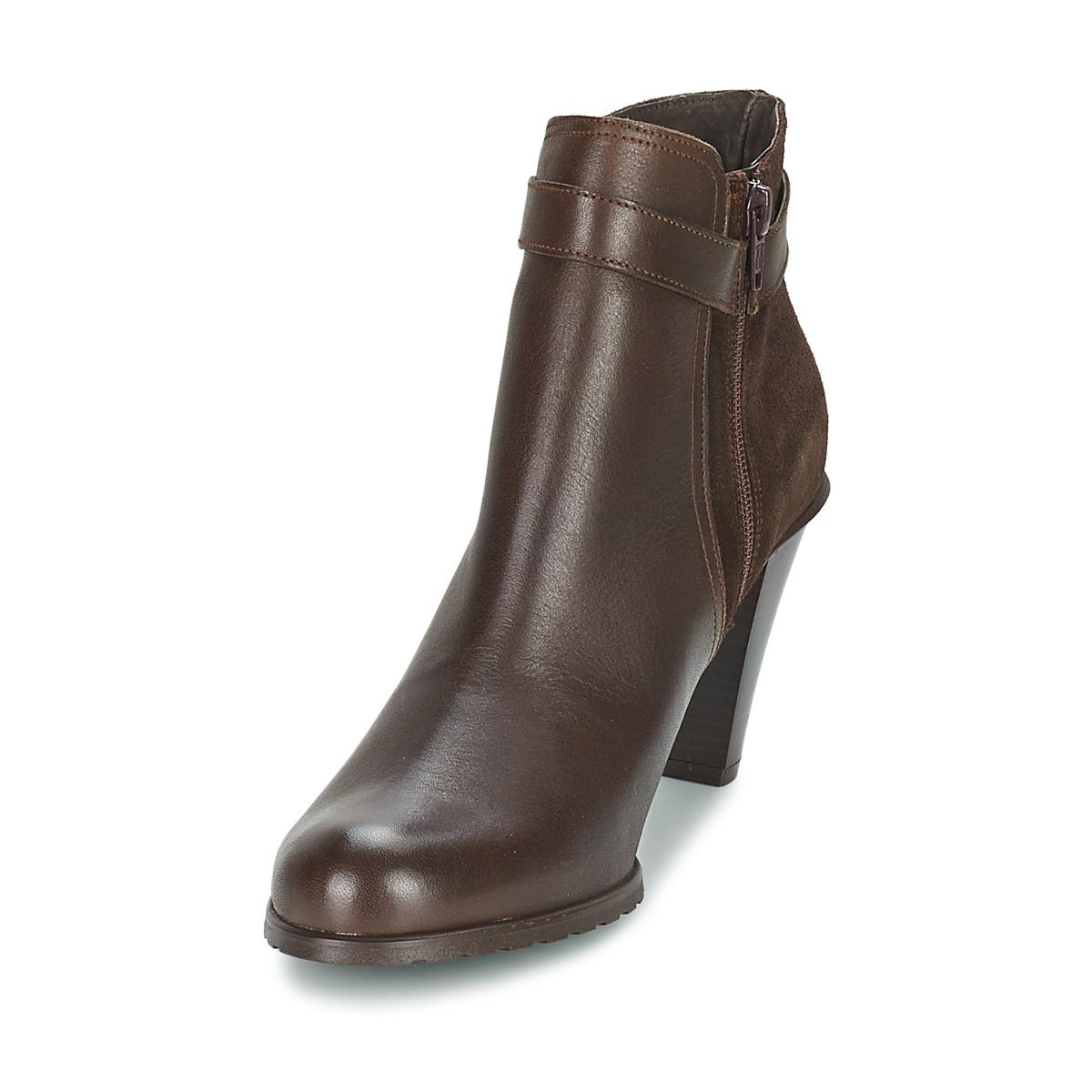 So Size Leather Moseka Women's Low Ankle Boots In Brown - Save 11%