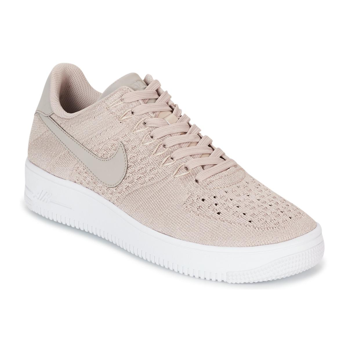 624869c0e242 reduced nike air force 1 flyknit low pink grey 33912 49364