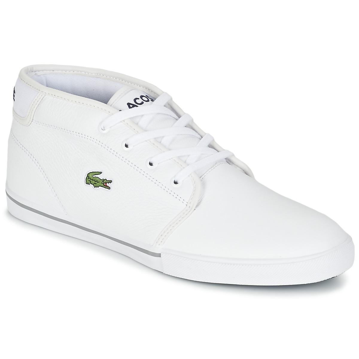 e3ee13660a994e Lacoste Ampthill Lcr3 Men s Shoes (high-top Trainers) In White in ...