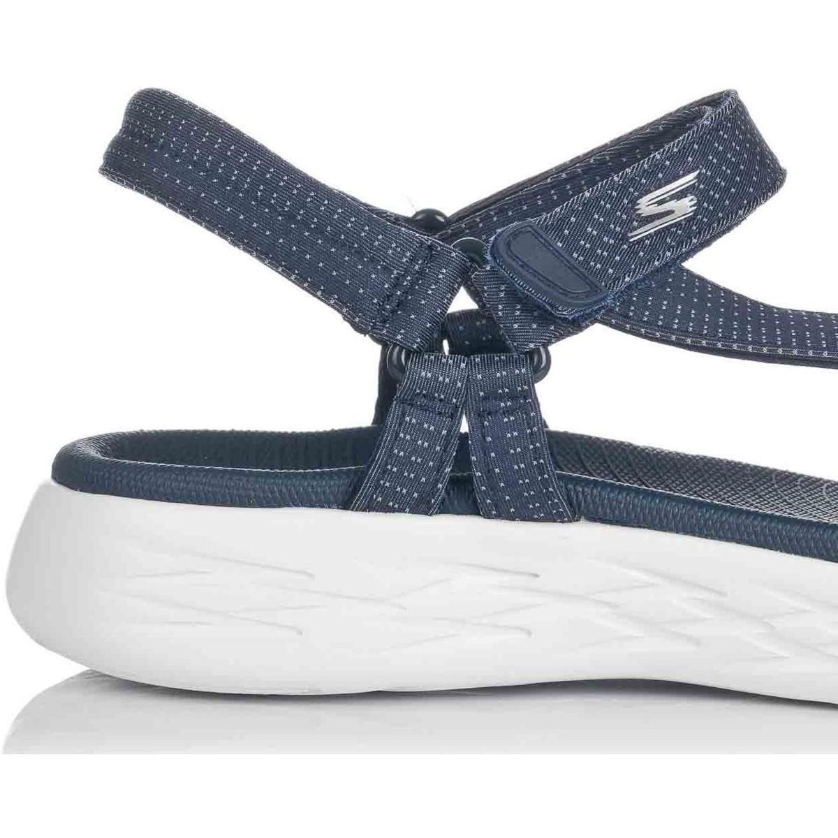 15316 NVY Sandales Skechers en coloris Bleu