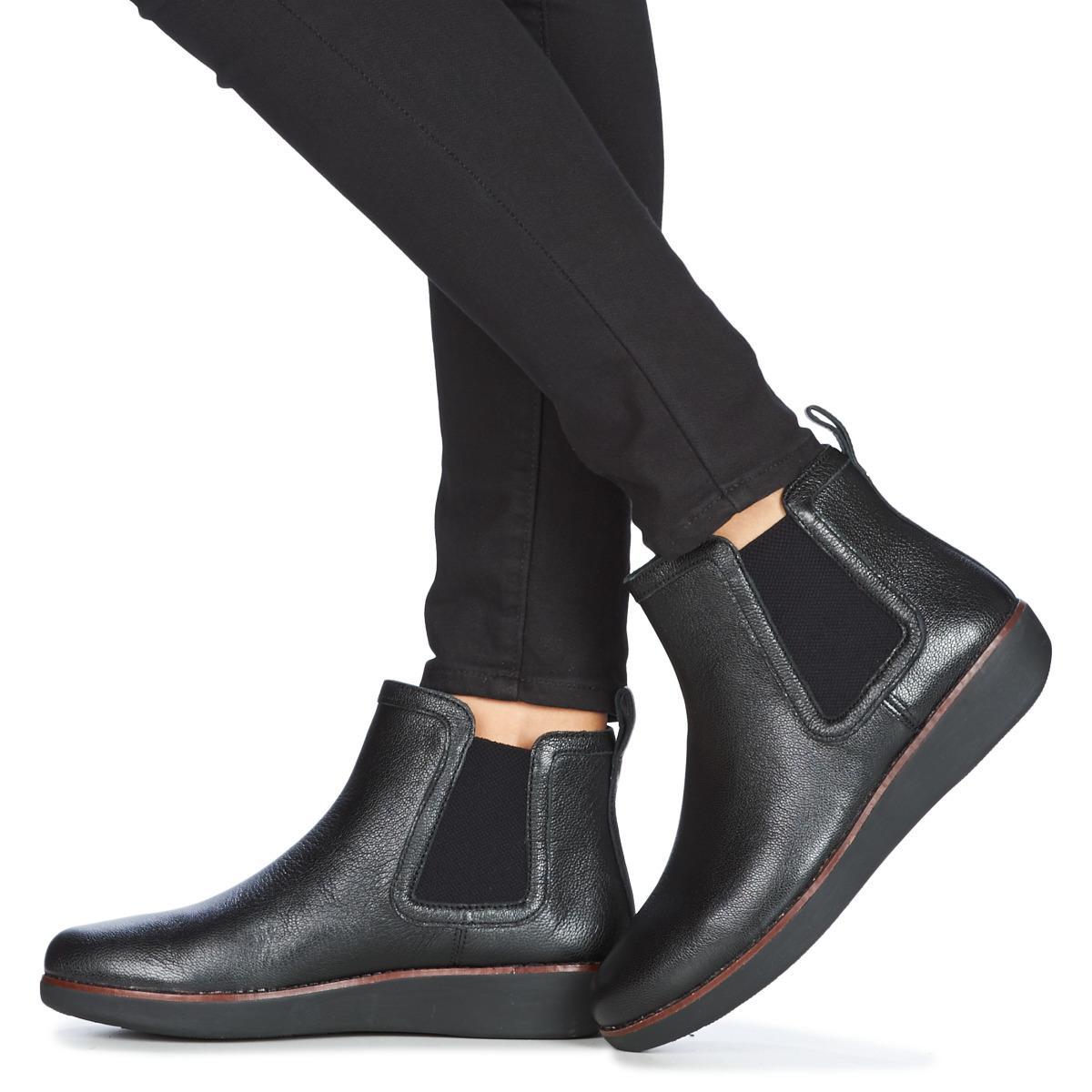 5d56b302cc3497 Fitflop - Chai Women s Mid Boots In Black - Lyst. View fullscreen