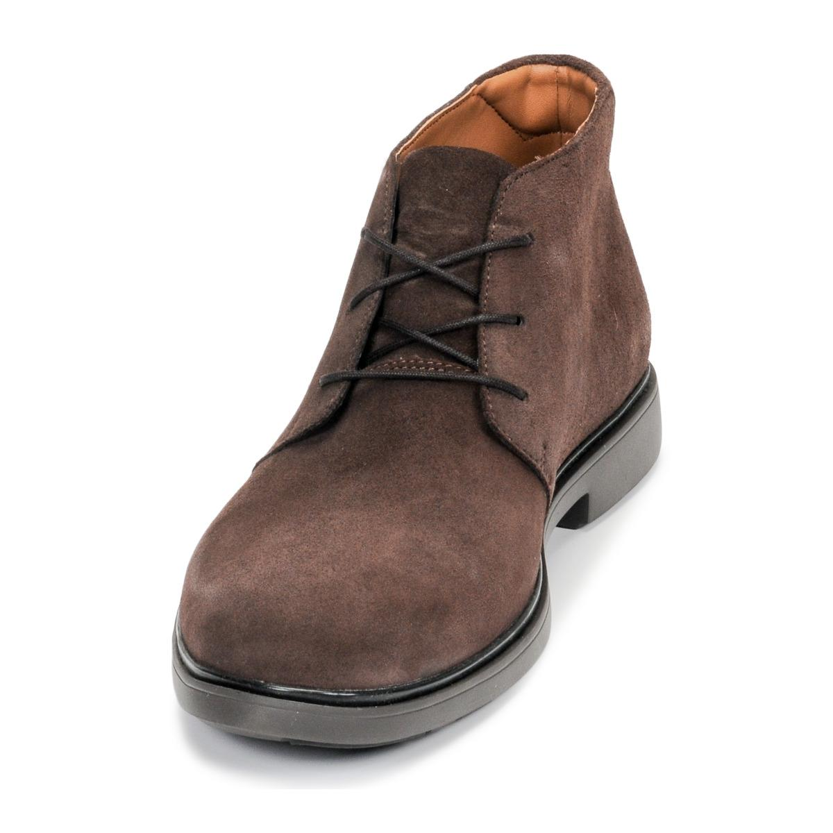 Clarks Leer Laarzen Un Tailor Mid in het Bruin voor heren